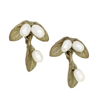 Petite Leaf with Pearls