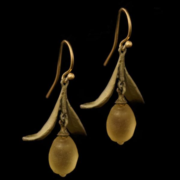 Lemon Drop Dangle Leaf Wire Earrings – Item#: 3315BZ
