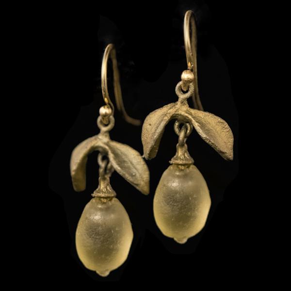 Lemon Drop Dainty Wire Earrings – Item#: 3316BZ