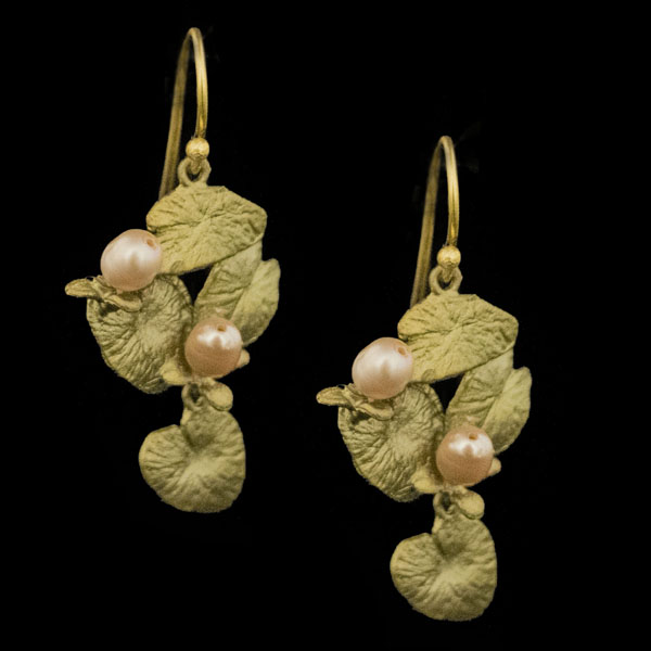 Water Lily Dangle Wire Earrings – Item#: 3339BZ