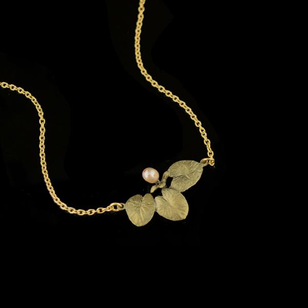 Water Lily 16″ Adj. Dainty Pendant – Item#: 9259BZ