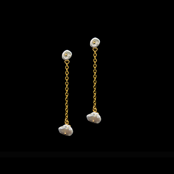 Dainty Additions Silver Dollar Drop Post Earrings – Item#: 3343BZ