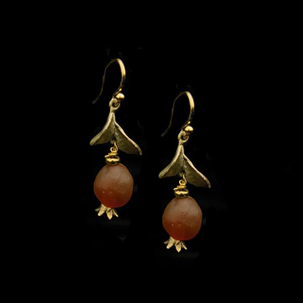 Pomegranate Drop Wire Earrings – Item#: 3540BZ