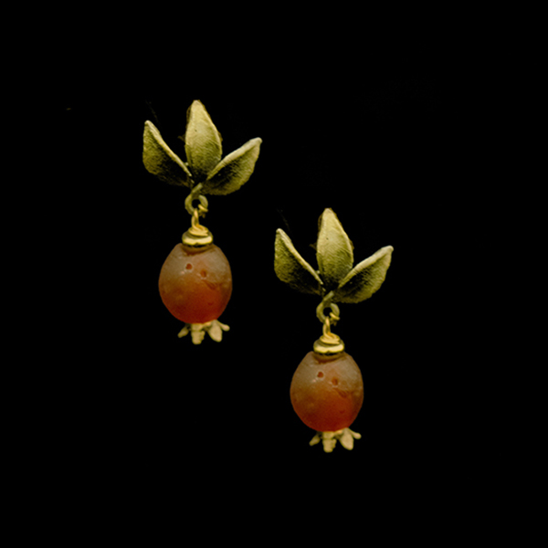 Pomegranate Post Earrings – Item#: 3542BZ