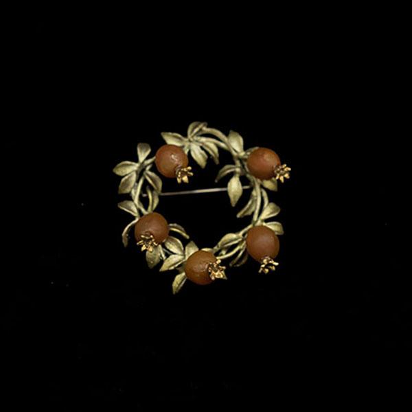 Pomegranate Wreath Brooch – Item#: 5990BZ